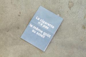 Alexandre Lavet, La cigarette n'a pas le même goût au soleil, 2016, Pastel on folded paper, 21 x 14,8