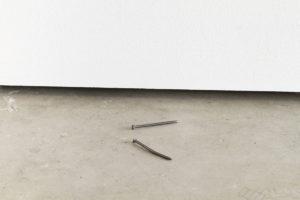 Alexandre Lavet, Les oubliés, 2011, graphite, 7 cm each