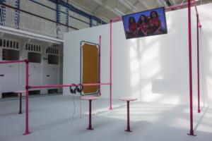 Puck Verkade, Durst Britt and Mayhew, Breeder, installation view, Goldsmiths, London, 2017.