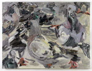 Wieske Wester, The winged, 2020, oil on canvas, 120 x 160 cm