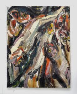 Wieske Wester, Fish painting, Durst Britt and Mayhew, Galerie, Den Haag