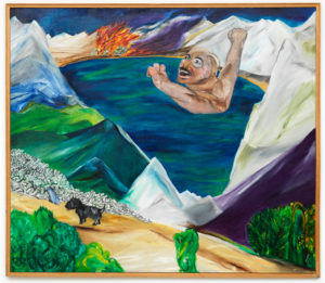 L'Âne du Liban (Série Noire), 1981, oil on canvas