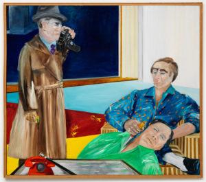 Gardez-vous à gauche (Série Noire), 1981, oil on canvas, 140 × 160 cm, Dürst Britt & Mayhew.