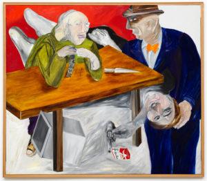Flottant devant les yeux (Série Noire), 1981, oil on canvas, 140 × 160 cm, Dürst Britt & Mayhew.