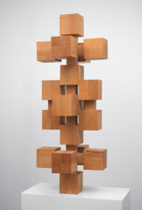 Willem Hussem, Untitled, ca. 1969, oak, 135 x 52,5 x 52,5 cm