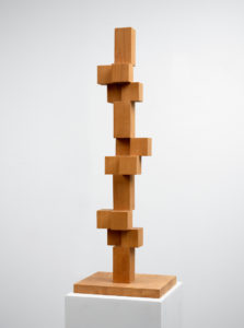 Willem Hussem, Untitled, ca. 1969, oak, 109 x 36 x 30 cm