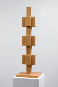 Willem Hussem, Untitled, ca. 1969, oak, 103 x 33 x 26 cm