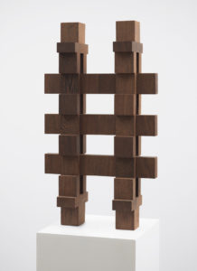 Willem Hussem, Untitled, ca. 1969, wenge wood, 80 x 47 x 16 cm