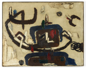 Willem Hussem, Untitled, 1958, oil on linen, 55 x 70 cm