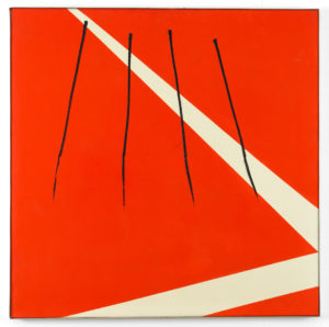 Willem Hussem, Untitled, ca. 1972, oil on linen, 100 x 100 cm