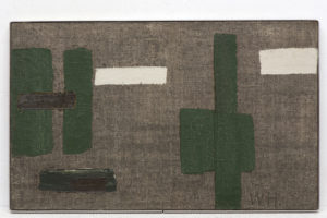 Willem Hussem, C XII, 1960, oil on burlap, 50 x 80 cm (private collection)