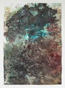 Paul Beumer, Untitled, 2014, mixed media on paper, 100 x 70 cm