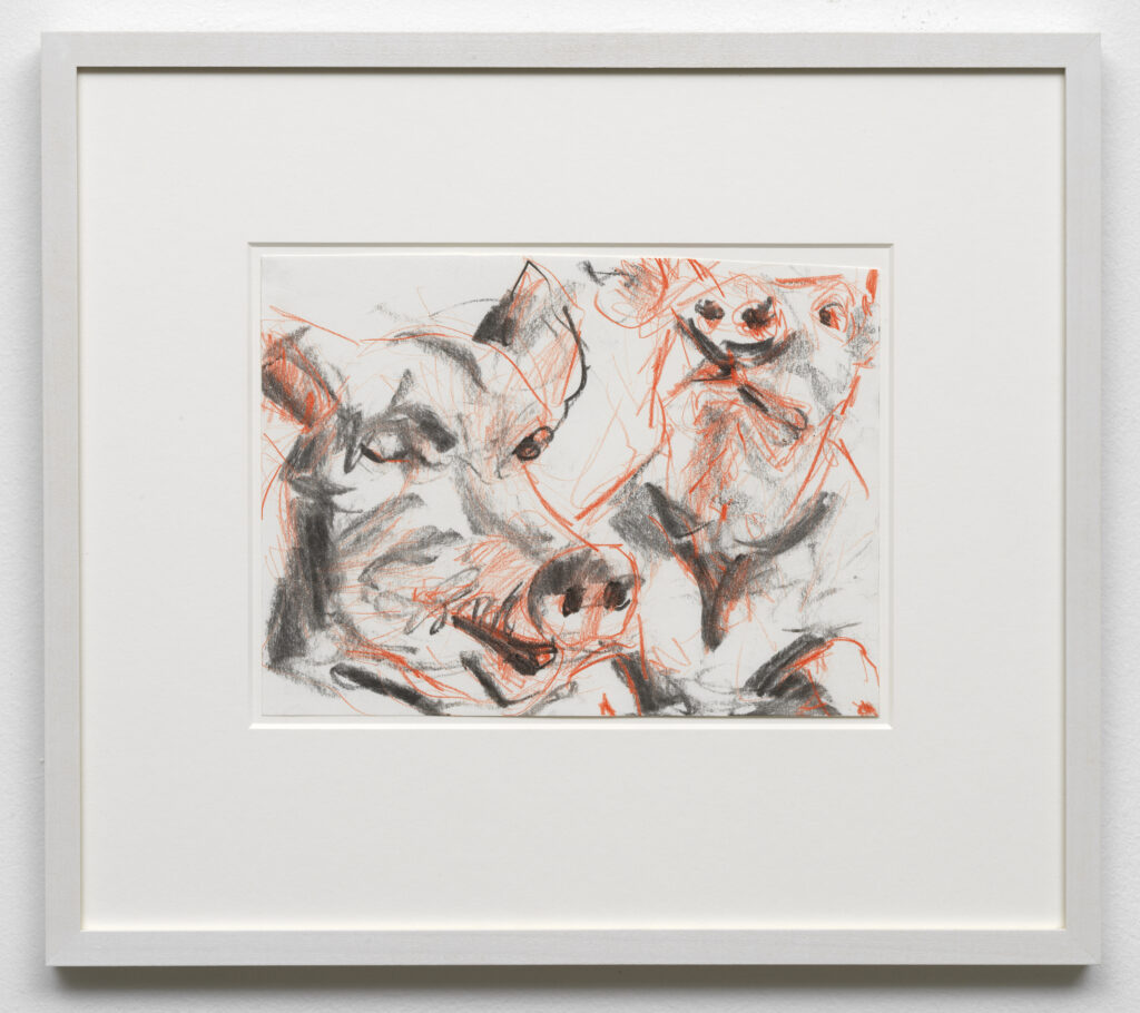 Wieske Wester, Untitled, 2020, charcoal on paper, 18 × 25 cm